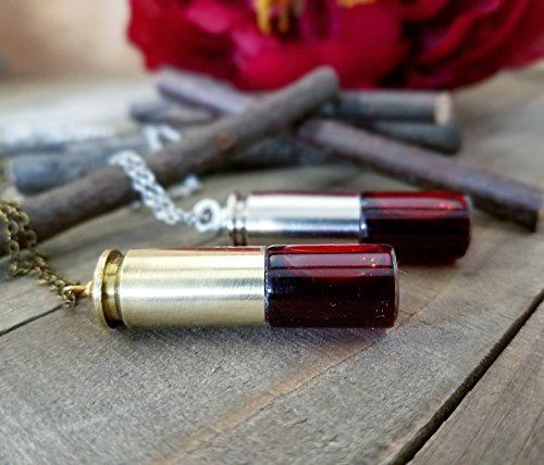 Repurposed Costume Jewelry (Bullet casing jewelry | Blood vial necklace | Halloween costume | blood pendant)