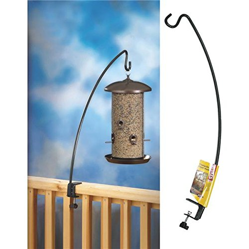 Stokes Select 24-Inch Metal Clamp-On Deck Hook for Bird Feeder Bird Deck Hook