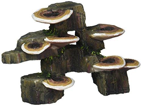 Pen-Plax RR1006 Mushrooms on Rock Aquarium Ornament, Small/6
