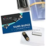 CMS Magnetics® 24 Name Badges with Magnetic Attachments (2 1/2 x 4) - DIY