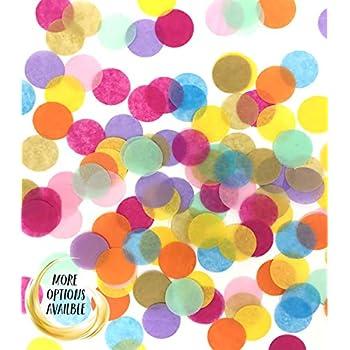 Confetti Circles 1 1//4 9 CONFETTI TOSS Confetti for balloons multi coloured