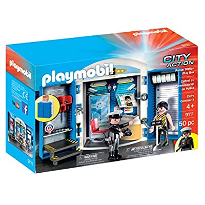 PLAYMOBIL Police Station Play Box: Toys & Games