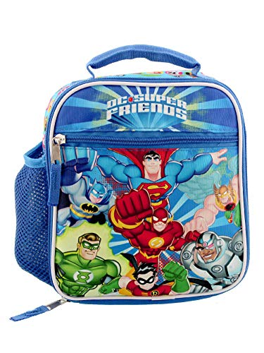 DC Super Friends Boys Soft Insulated School Lunch Box (One Size, Blue/Multi)