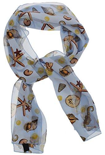 Bufanda de verano para mujer de tacto sedoso, diseño clásico, con temática de playa, 30,5 x 152,4 cm, en caja de regalo,...