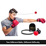 Liberry Boxing Reflex Ball, Professional Boxing Ball Better Materials, Perfect Improving Reaction, Hand-Eye Coordination Boxing Training,Both Fun Exercise