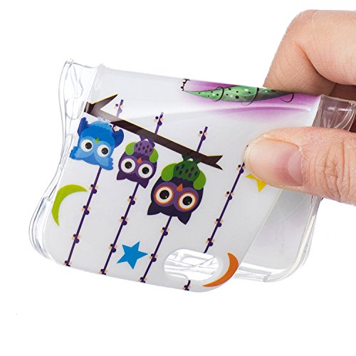 iPhone 5 5S SE Schutzhülle , LH Mond Eule TPU Weich Muschel Tasche Schutzhülle Silikon Hülle Schale Cover Case Gehäuse für Apple iPhone 5 5S SE