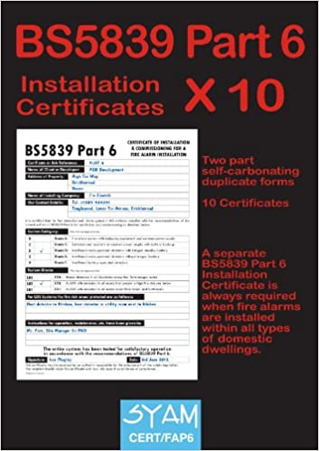 Bs5839 part 6 installation certificate pack amazon syam books yadclub Gallery