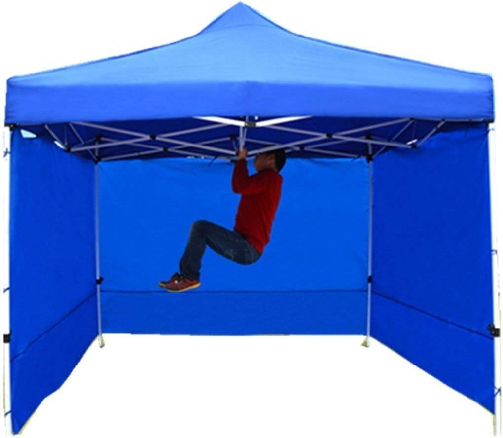 Unafreely 組立て簡単 ワンタッチ タープテント3.0×3.0 m /3.0×4.5 m サイドシート 高耐水加工 シルバーコーティング/UVカットコーティング ステント 3段階調節 青 3 x 6 m