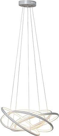Kare 38880 Hängeleuchte Saturn LED Weiß Big, grosse, moderne PendelleuchtenPendellampen, edle Design Hängelampe, extravagante Deckenlampe,