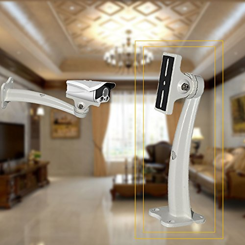 Bracket Wall Mounting Cctv (Auto Safety Aluminium Universal Indoor Outdoor Wall Ceiling Mount CCTV Security Camera Rotary Mounting Bracket PART OF TWO white)