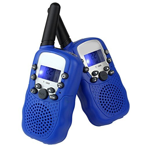 LeeKer LK-R018 Walkie Talkies for Kids 2 Way Radio Toys with Flashlight VOX Function Practical Christmas Toys(Blue, 1 Pair) by LeeKer (Image #1)