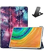 Jorisa Tablet Case for Huawei MediaPad Pro 10.8,Slim Lightweight Leather Trifold Stand Cover Flip Magnetic Smart Shell with Auto Wake/Sleep and Free Cellphone Stand,Nebula