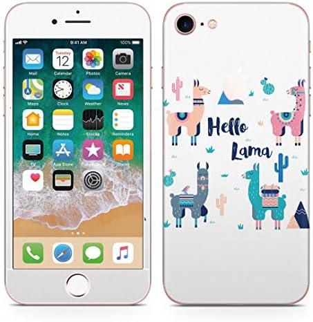 igsticker iPhone8 専用 スキンシール 全面スキンシール フル 背面 側面 正面 液晶 ステッカー 保護シール 016366 アルパカ 英語