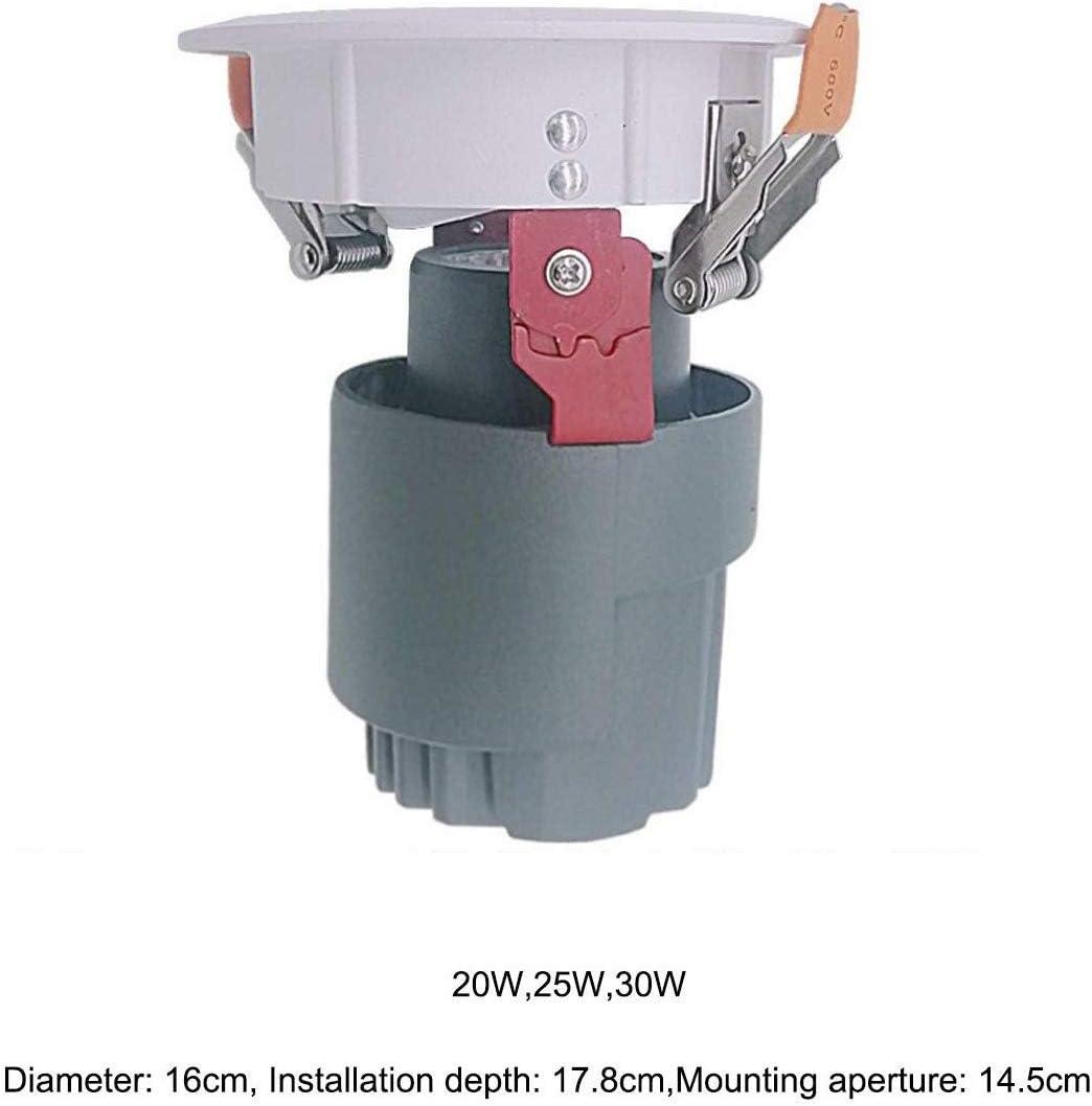 Downlight da Incasso per Illuminazione dimmerabile da Interno a LED per Illuminazione da Incasso a LED Impermeabile IP40 25w-3000k Warm Light