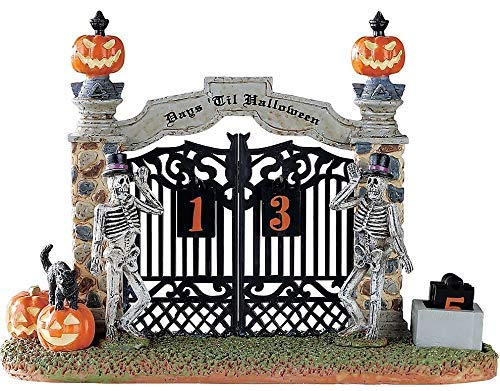 Lemax Spooky Town Gateway Halloween Countdown Table Piece #83348