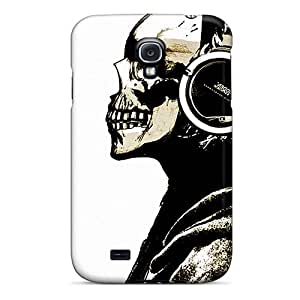 Hot Skullhead First Grade Tpu Phone Case For Galaxy S4 Case Cover