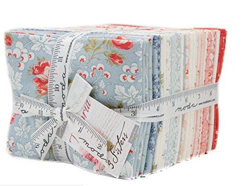 Victoria Fat Quarter Bundle 34 Precut Cotton Fabric Assortment by 3 Sisters for Moda Fabrics, 44160LC by Moda Fabrics