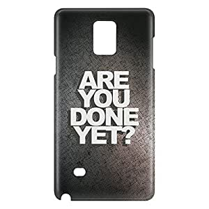 Loud Universe Galaxy Note 5 Are You Done Yet Print 3D Wrap Around Case - Black/Gray