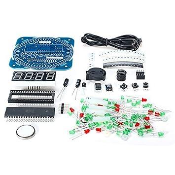 Ils - DIY DS1302 Rotación LED Reloj electrónico del Kit 51 ...