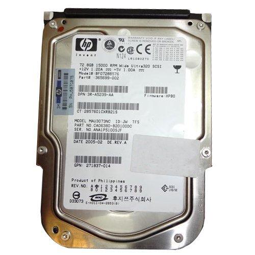365699-002 Hp 72.8Gb 15000Rpm Scsi Ultra320 Universal Hot-Plug Hard (002 Scsi)