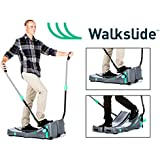 Walkslide Manual Treadmill,Elliptical & Nordic Skier in one! Compact, Portable, Quiet, Low impact, Lose Weight!