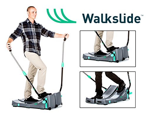 Walkslide Manual Treadmill,Elliptical & Nordic Skier in one! Compact, Portable, Quiet, Low impact, Lose Weight! (Elliptical Handle)