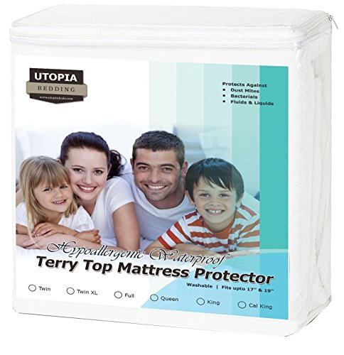 Utopia Bedding Premium Hypoallergenic Waterproof Mattress Protector - Vinyl Free - Breathable Fitted Mattress Cover (California King)