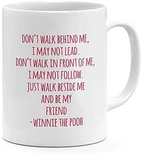 Pooh Pink Quote 11oz Coffee Mug Winnie Pooh Friends Quote 11oz Ceramic Novelty Mug