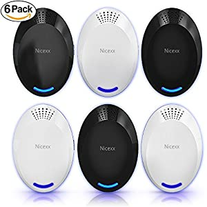 Nicexx [NEW 2018] Ultrasonic Pest Repeller (6-Pack) – Electronic & Ultrasound, Indoor Plug-In Repellent, Anti Mice, Insects, Bugs, Ants, Mosquitos, Rats, Roaches, Rodents