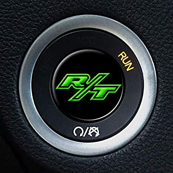 MBDG R//T Ignition Push Start Button Overlay for Dodge Challenger and Charger A42