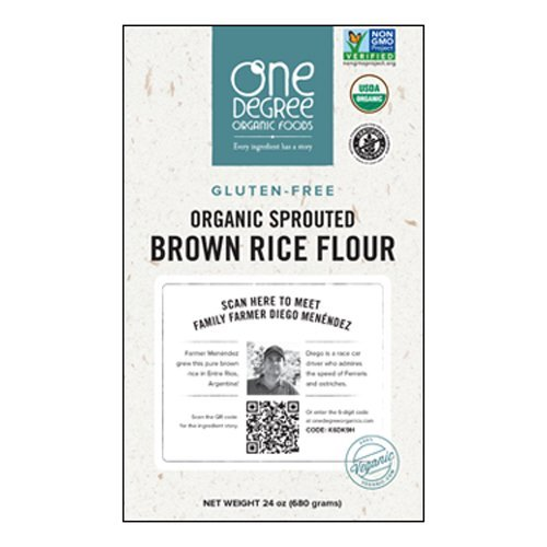 (One Degree Organic Gluten-Free Sprouted Brown Rice Flour , 24 Ounce -- 6 per case.)