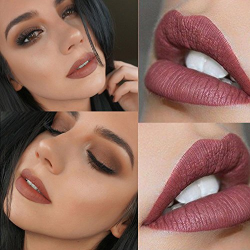 SHERUI lipstick set 12Pcs Matte Liquid Lipstick Madly Waterproof Long Lasting Matte Liquid Lipstick Beauty Lip