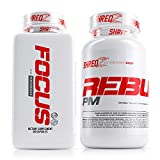 SHREDZ Limitless Supplement Stack for Men, Rebuild-PM + Focus, Boost Focus During the Day, Sleep Better at Night (30 Day Supply)