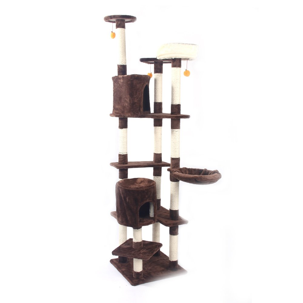 MicroMall Cat Tree Condo Tower with Scratching Posts Kitten Furniture Play House