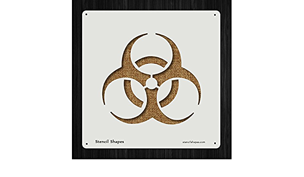 Biohazard vinyl painting stencil for shoes /& small objects *high quality*
