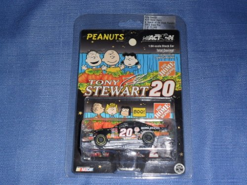 2002 Tony Stewart #20 Search for Great Pumpkin Peanuts Home Depot 2002 Winners Circle 1/64 Scale Diecast Hood Opens Action Racing Collectables ARC Limited Edition -
