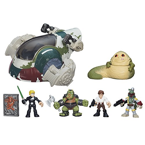 Star Wars Galactic Heroes Jabbas Bounty Playset, Ages 3-7, Jabba The Hutt Toy Vehicle ()