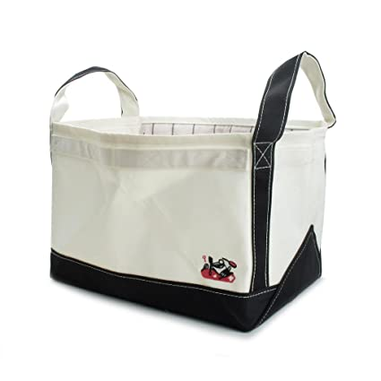 Wieco Art Canvas Storage Basket Toy And Grocery Storage Bag Laundry Bag  Durable Large Size 13.5