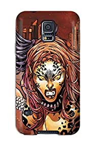 For Galaxy S5 Premium Tpu Case Cover Has Wonder Woman Meet Her Match ! Protective Case