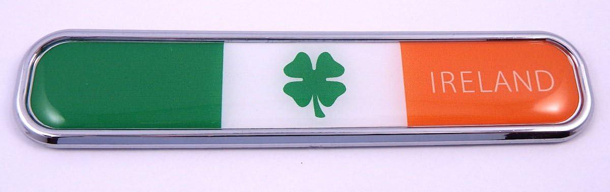 Clover 4 Leaf Irish Plastic Car Auto Decal Sticker Shamrock Ireland Symbol Car Chrome Decals