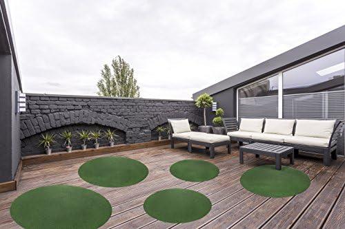 Vert diff/érentes Tailles andiamo Herbe Artificielle//pelouse avec Picots de Drainage 100x200cm Vert