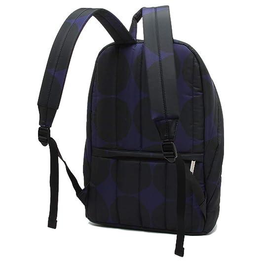 e067d63016c4 Amazon   [マリメッコ]バックパック レディース MARIMEKKO 046992 590 ネイビー ブラック [並行輸入品]   レディース バッグ・財布