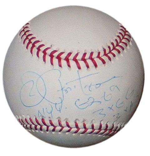 JOE PEPITONE SIGNED NY YANKEES 1962 - 1966 3x ALL STAR & GOLD GLOVE OML BASEBALL