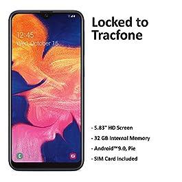 Tracfone Samsung Galaxy A10e 4G LTE Prepaid Smartphone (Locked) – Black – 32GB – SIM Card Included – CDMA – with $30…