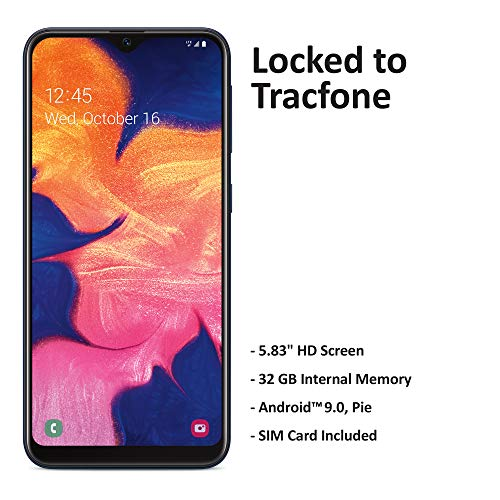 Tracfone Samsung Galaxy A10e 4G LTE Prepaid Smartphone (Locked) - Black - 32GB - SIM Card Included - CDMA