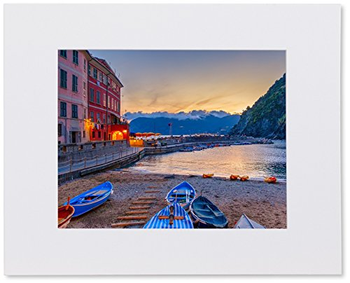 Matted Photo Print - Fits an 11X14in Frame - Cinque Terre, - Decorative Matboard