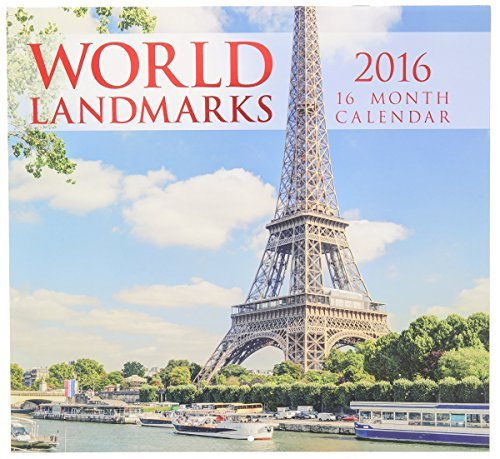 16 Month 2016 Wall Calendar - 1 X 2016 World Landmarks 16 Month Wall Calendar