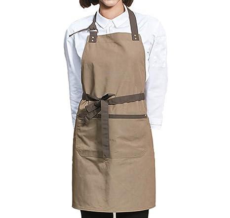 Grembiule Da Cucina Uomo.Yux Grembiuli Da Cucina Grembiule Da Cucina Con Bavaglino Barbecue Per Uomo E Donna Verde Oliva Con Cinghie Marroni