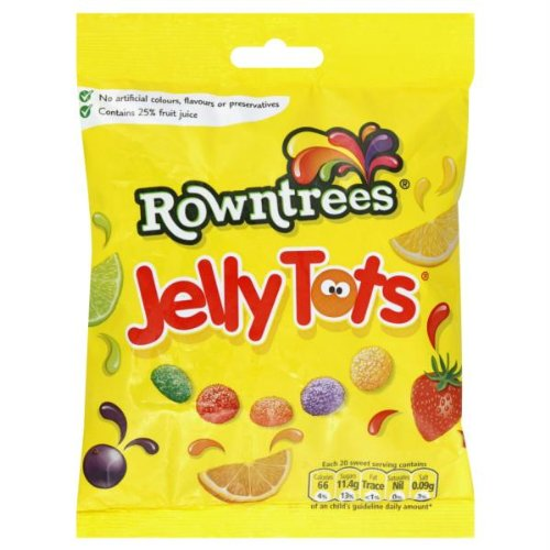 Nestle Rowntrees' Jelly Tots - 5.6oz (160g) (Nestle Strawberry Syrup)