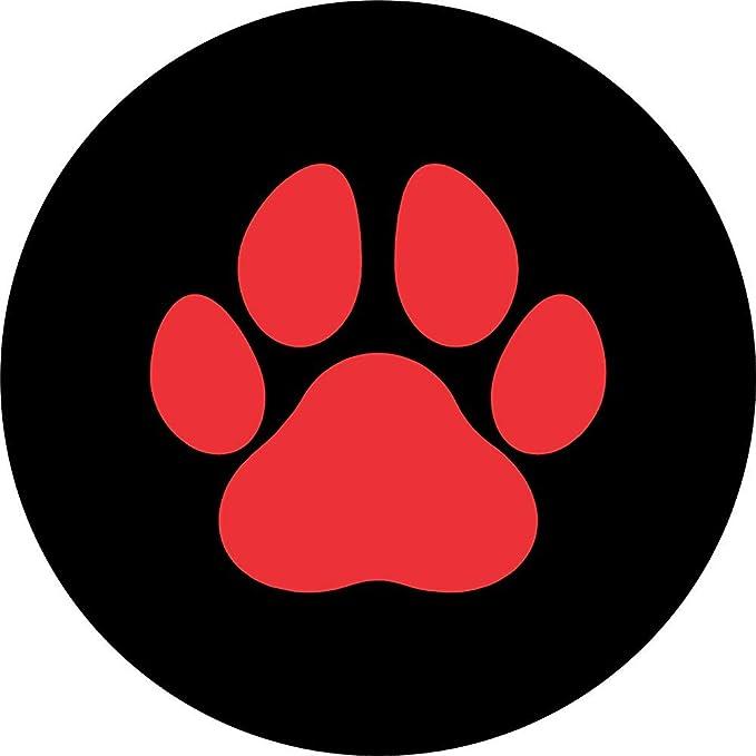 Y Z L Reserveradabdeckung Pet Oder Dog Paws Rot Reserveradabdeckung Für Wohnmobile Anhänger Usw 14 17in Auto